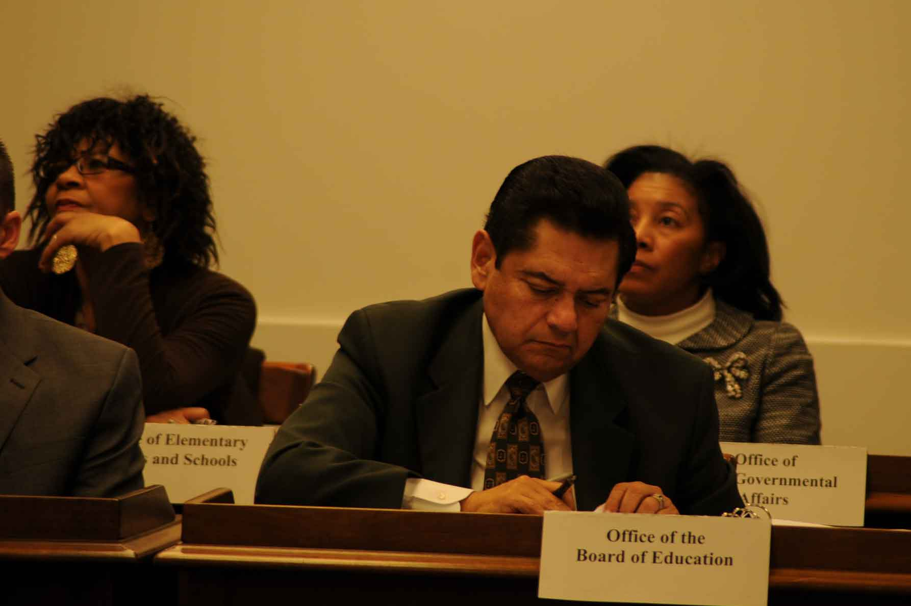 ... Alberto Carrero attended the first of the six 'turnaround' hearings  scheduled as part of this year's actions against Chicago's public schools  under the ...