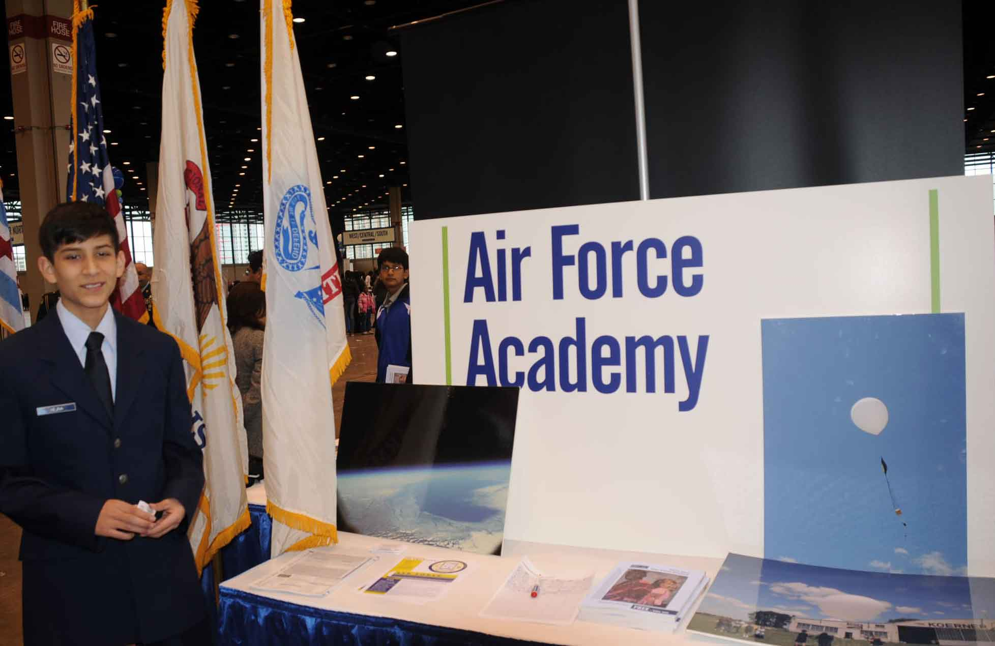 Even Chicago's 'Air Force Academy' high school, which had only been in  operation for six weeks as of October 10, 2009, had its own booth.