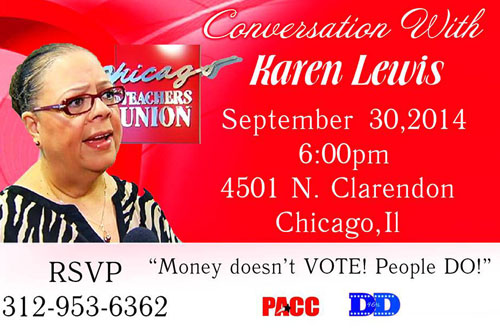 Conversations with Karen will continue in Uptown September 30. Nominating petitions are being circulated and a campaign fund has been opened.