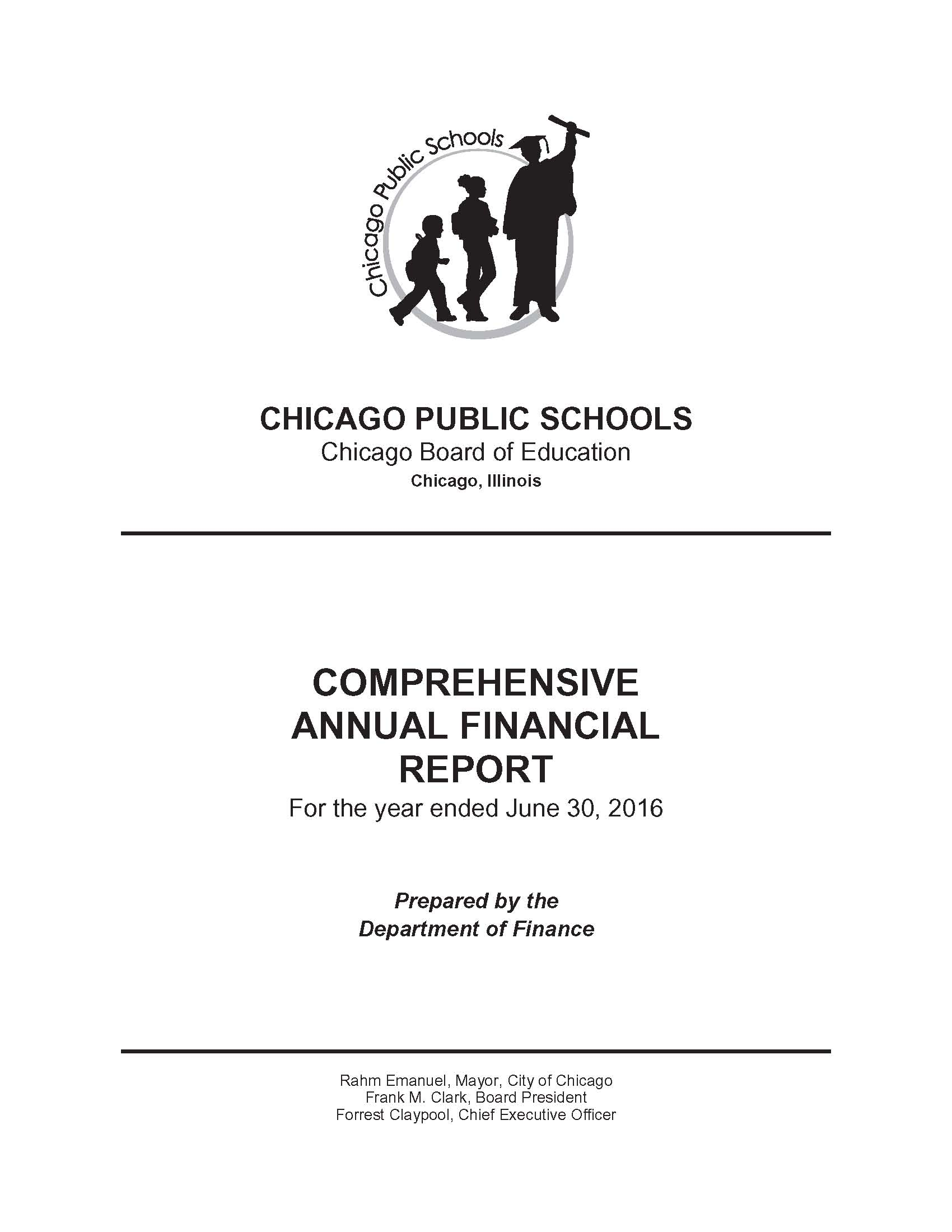 The most detailed and accurate financial report from CPS is the annual CAFR. The FY 2016 CAFR was released to the public in January 2017, but as of March 2017 the leadership of the Chicago Teachers Union, while complaining about the latest pay cuts being imposed on the union's members (via