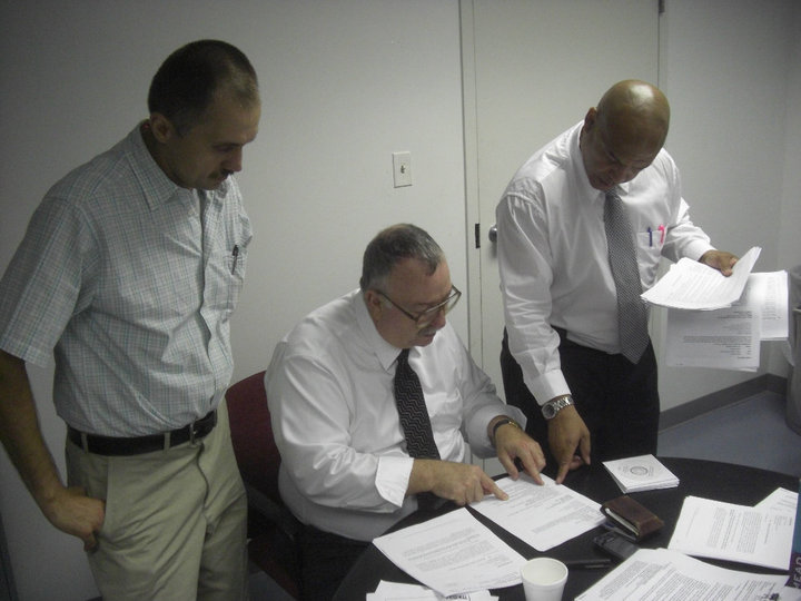 Dr. John Kugler, (left) a CTU field rep and the Professional Staff Employees Union (PSEU) shop steward, filed multiple Unfair Labor Practice complaints against the CTU that focused on the right of the PSEU to conduct union business during the work day when necessary and needed as was past practice. The NLRB ruled in favor of Kugler and the PSEU and against the CTU. (Facebook photo.)