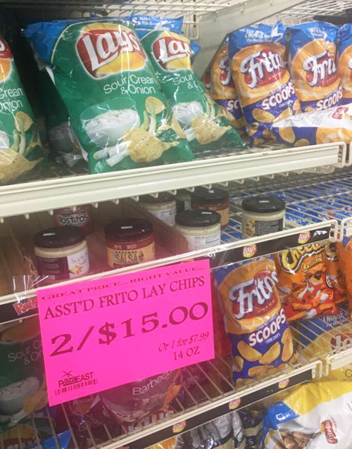 Donald Trump-style capitalism in action a week after Hurricane Maria devastated the U.S. Virgin Islands. Substance photo courtesy of Julia Hickey.