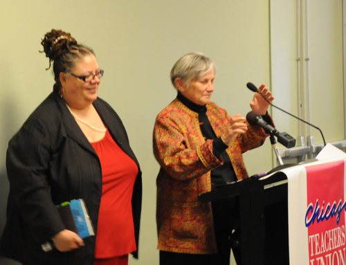 Diane Ravitchs Review Of Ghosts In >> Diane Ravitch Speaks To The Crowd At Uic Substance News