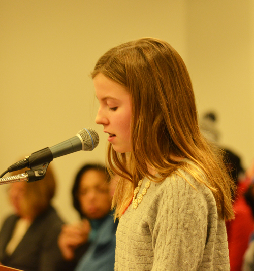 One of many students who have been analyzing and criticizing the standardized testing fetish of Chicago's mayor and his hand-picked public schools leadership was Audobon school student Eleanor Griffith, who spoke with precision to the February 26, 2014 meeting of the Chicago Board of Education. Ms.Griffith told the Board that she had critically analyzed the NWEA MAP test and that the test was offensive: it didn't test what the children had been taught, often demanded that they know subjects above their grade level (e.g. high school math), and created a poisonous reality in the classroom (by forcing children to view one another as numbers that indicated that some were