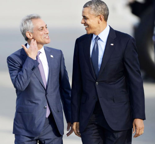 In both 2011 and 2015, Rahm Emanuel received public support from President Barack Obama. Even though Obama's support for Emanuel failed to bring Emanuel over the required majority vote in the February 24 voting, the word continued to be hammered home, especially in Chicago's African American wards, that Chicago's favorite son President of the United States wanted people to vote for Emanuel.