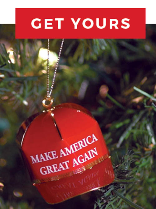 the trump make america great again christmas tree ornament was one of many items being pushed for sale for 149 by donald trumps campaign after the