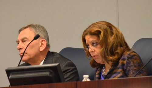 Chicago Board of Education President David Vitale (left) and Board member  Andrea Zopp (right) voted in favor of the now infamous SUPES contract at  the ...