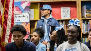 Chance the Rapper donated $1 million to the Chicago public schools for arts education.