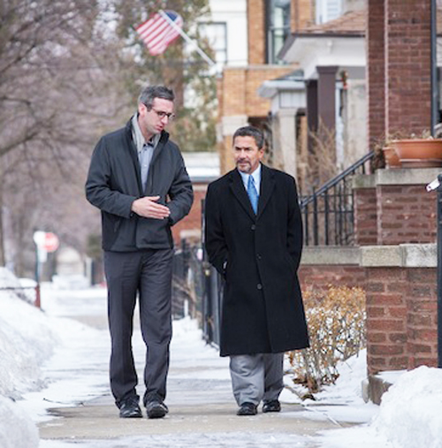 Illinois State Rep Will Guzzardi (left) with State Senator Willie Delgado on the campaign trail. Guzzardi's Opt Out bill, HB 306, is gaining support in the Illinois General Assembly.