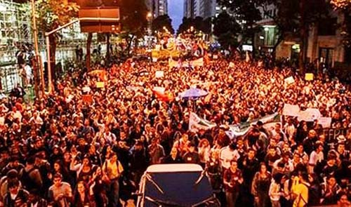 Teachers protest in Rio October 8, 2013.