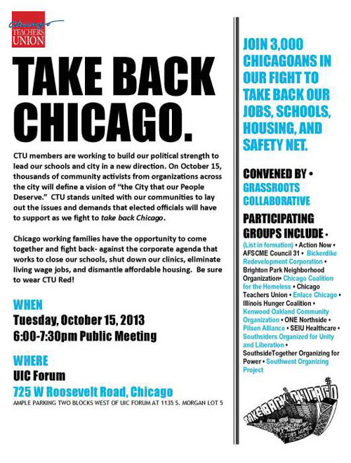 Take Back Chicago a public meeting.