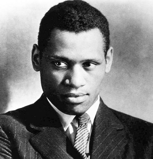 Paul Robeson as a young man.