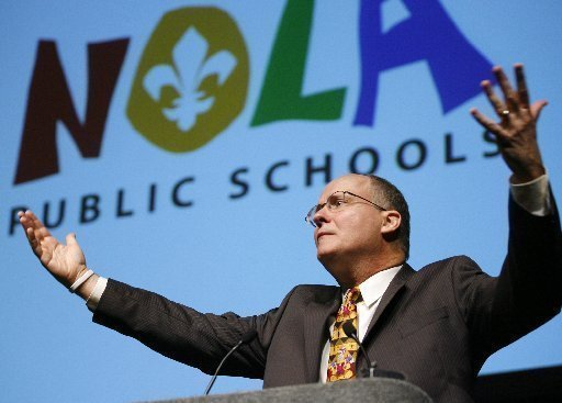 Paul Vallas during his ignoble time as schools chief in New Orleans. The legacy of racism from the Vallas era