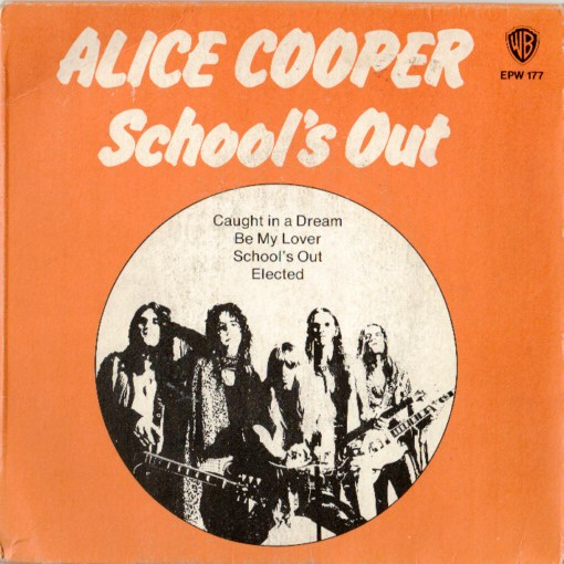 School's Out is the fifth studio album by American rock band Alice Cooper, released in 1972. Following on from the success of Killer, School's Out reached No. 2 on the US Billboard 200 chart and No. 1 on the Canadian RPM 100 Top Albums chart, holding the top position for four weeks.[2] The single