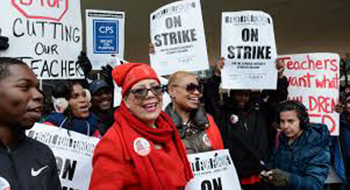 By the time Chicago Teachers Union President Karen Lewis led the union's 24,000 active duty members on a one-day